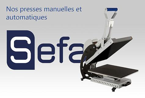 Presses à transfert SEFA