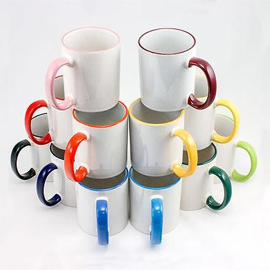 tasse céramique bicolores