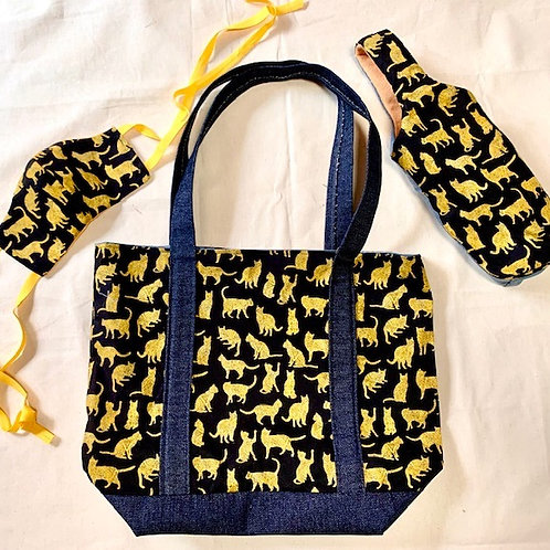 LOCKDOWN ESSENTIAL WITH STYLE set (cats-blue lining)
