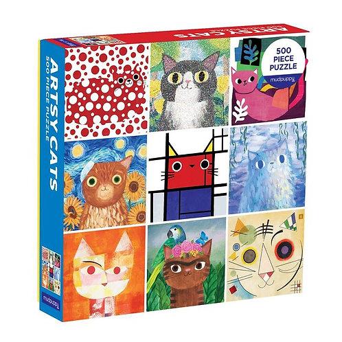 Artsy Cats 500pc Puzzle