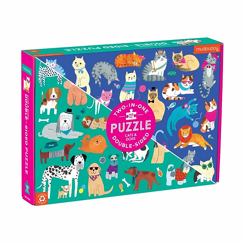 Cats & Dogs 100 Piece Puzzle Double Sided
