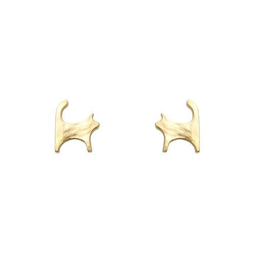 Cat Earrings - Gold