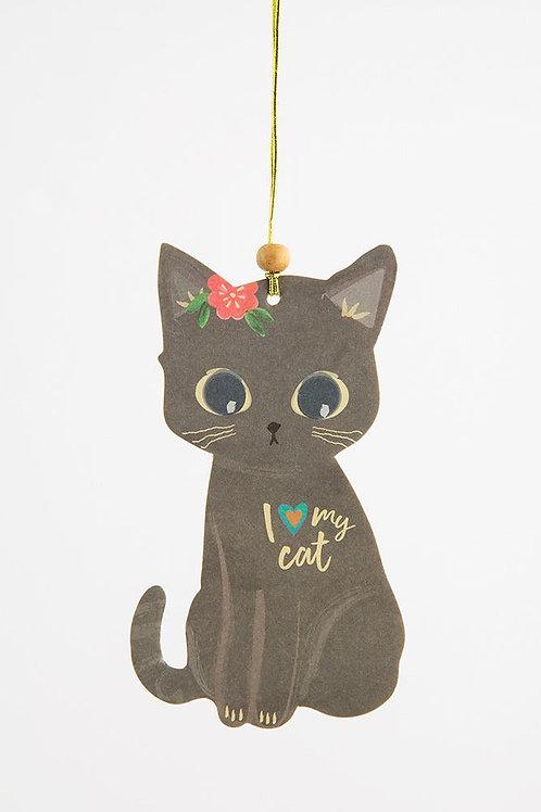 I Love My Cat Air Freshener - Set of 3
