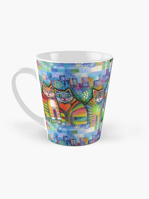 Urban Cats- Tall Mug Design by Karin Zeller