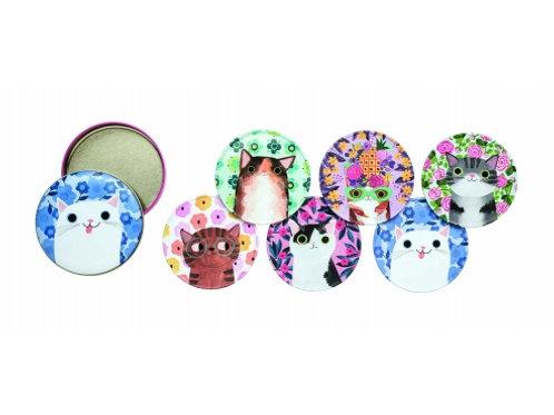 Planet Cat- Tin Coasters (Set of 6)