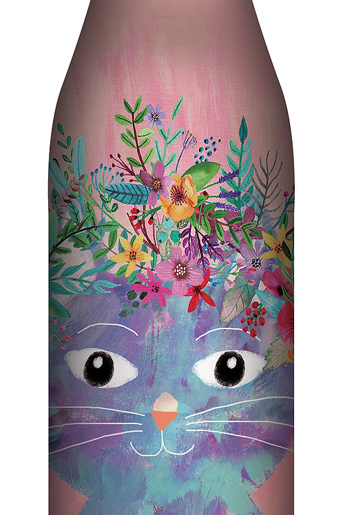 Studio Oh Large Drink Bottle Fancy Cat