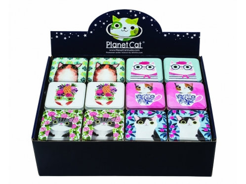 Planet Cat - Small Square Tins