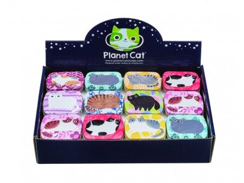 Planet Cats Mini Rectangle Tin