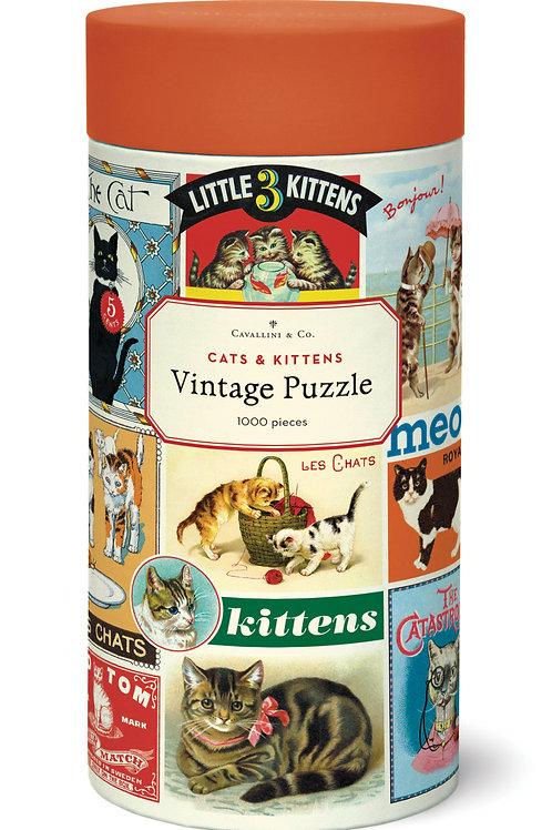 Vintage Cats 1000 Piece Puzzle