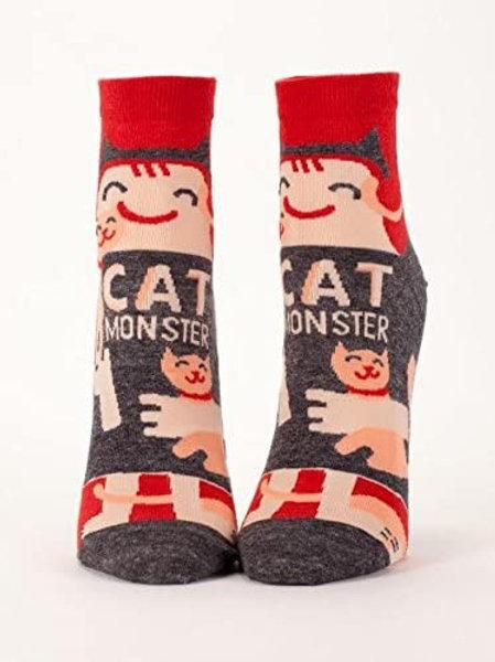 Cat Monster Womans Ankle Socks