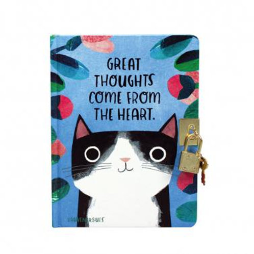 Planet Cat - Lockable Journal (Great Thoughts)