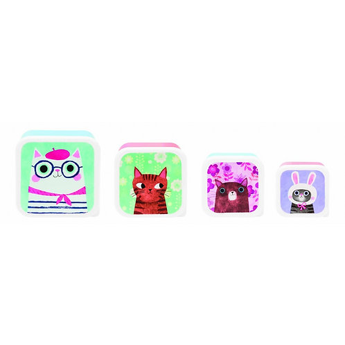 Planet Cat Snack Tubs - Set of 4