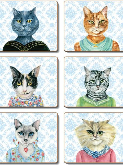 Lady Cat Luncheon - Coaster and Placemats