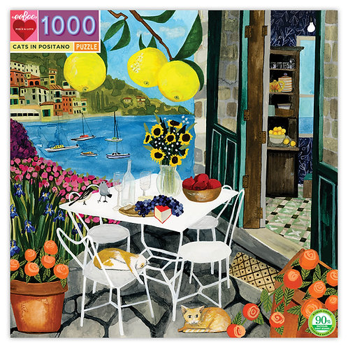 Cats in Positano 1000 Piece Puzzle