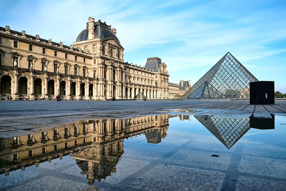 Early morning shot of the Louvre