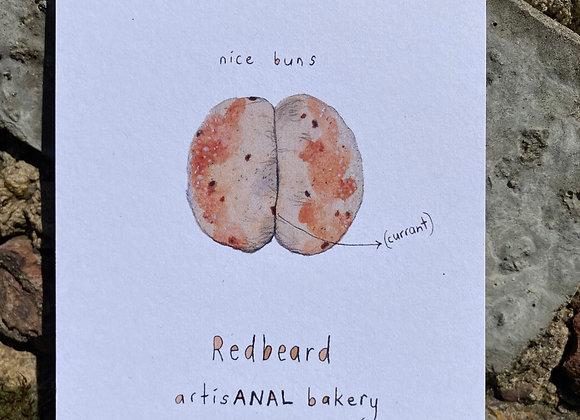 Postcard - RedBeard Nice Buns