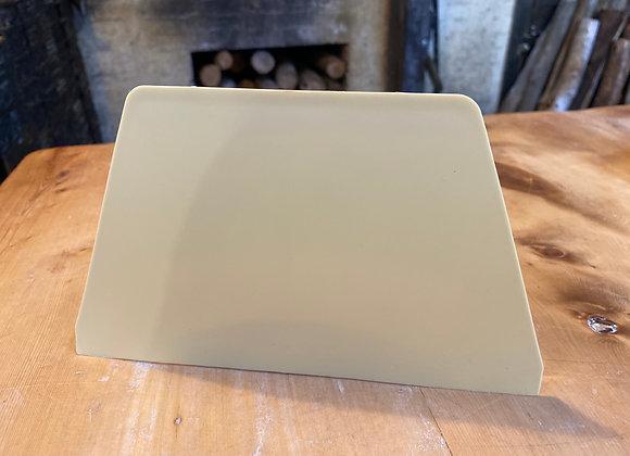 Dough scraper - plastic, flat edge