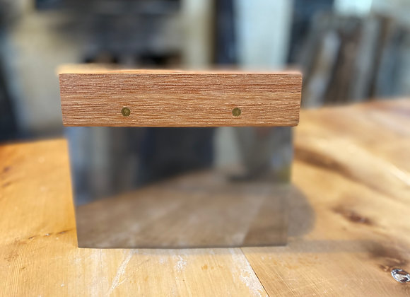 Dough scraper - metal, flat edge