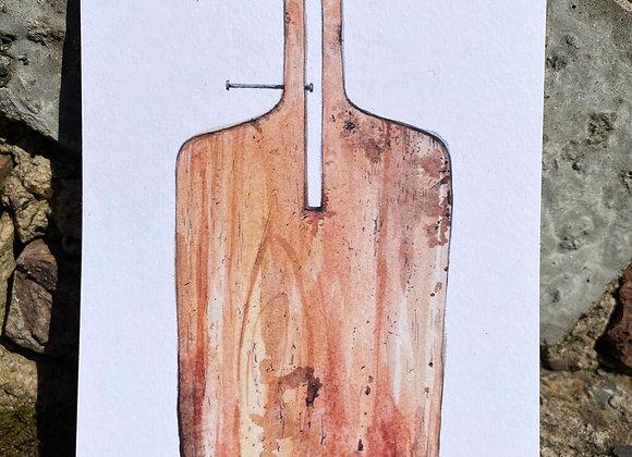 Postcard - baker's peel