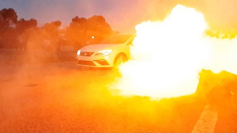 stunt drive school fx fire curso conducc