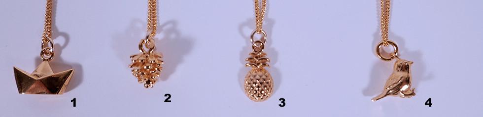 Anhänger Ketteli, 24 Karat vergoldet, 45cm oder 60cm, 38.-