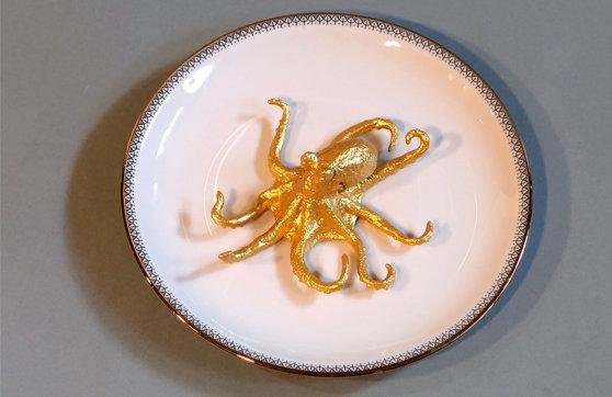 Tintenfisch Teller