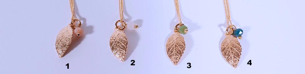 Leaf Ketteli, 24 Karat vergoldet, 45cm oder 60cm, 38.-