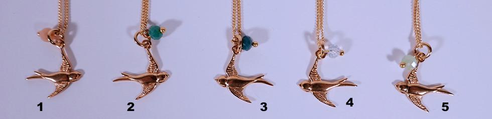 Schwalbe Ketteli, 24 Karat vergoldet, 45cm oder 60cm, 39.-