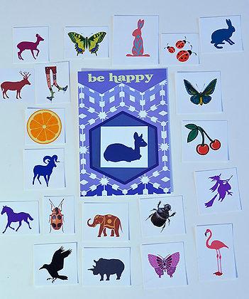 Grusskarte Serkie Kids mit einem Tatoo nach Wunsch