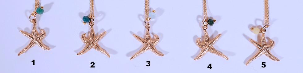 Seestern Ketteli, 24 Karat vergoldet, 45cm oder 60cm, 39.-