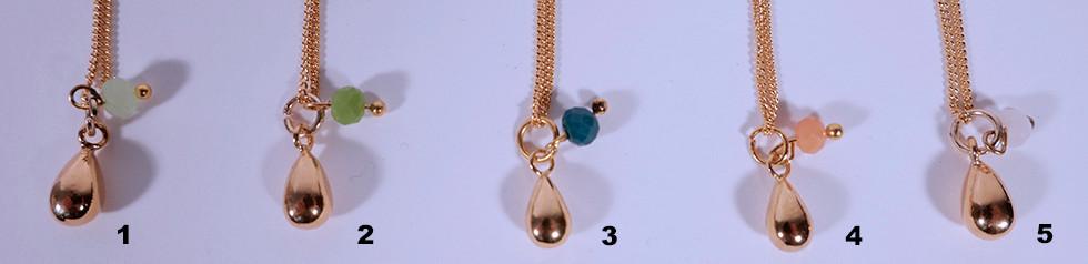 Ketteli Tropfen, 24 Karat vergoldet, 45cm oder 60cm, 38.-