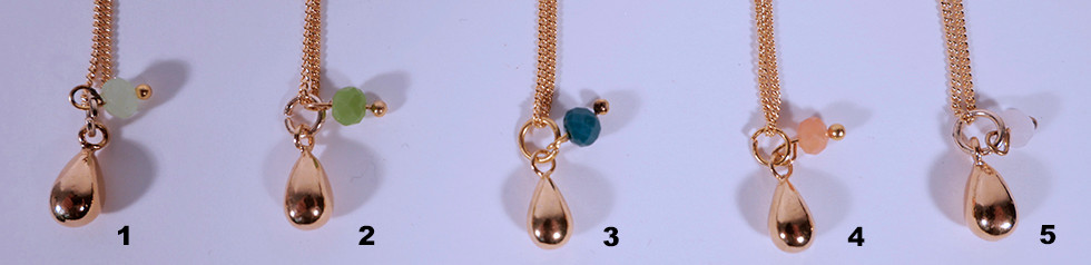 Ketteli Tropfen, 24 Karat vergoldet, 45cm oder 60cm, 39.-