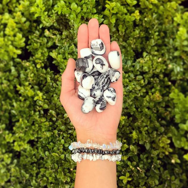 Zebra Agate Tumbed Stones