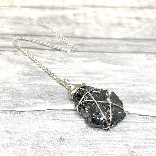 Silicon Crystal Necklace In Sterling Silver