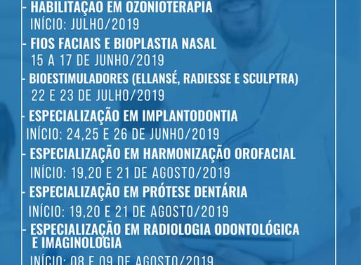 Inscrições Abertas para os cursos segundo semestre 2019