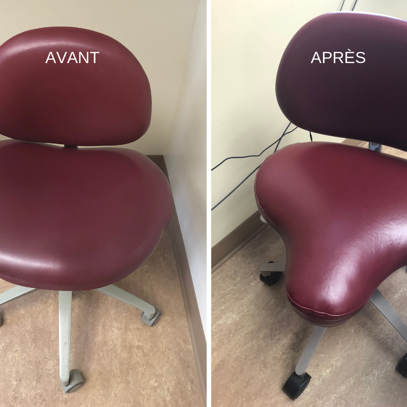 Modification d'une chaise de dentiste