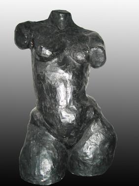 Double life size ceramic sculpture