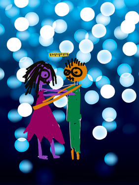 Zombie Prom: Digital illustration