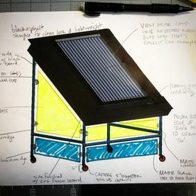 Designing a mobile unit for sales demonstration
