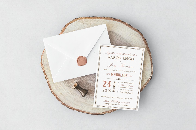 J&A Wedding Invite