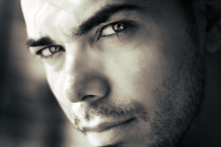 Black and White Close Up of a Man