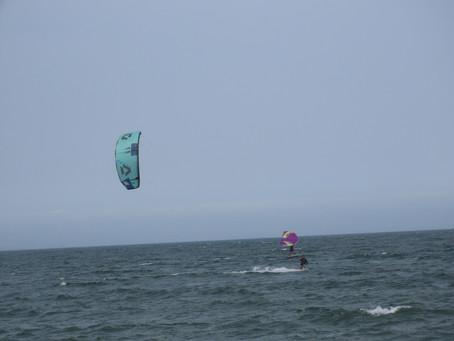 7月4日の小松海岸カイトボード
