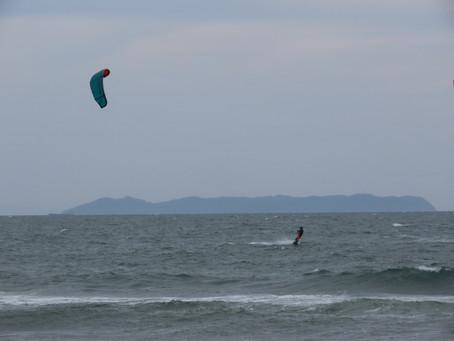 10月2日の小松海岸カイトボード