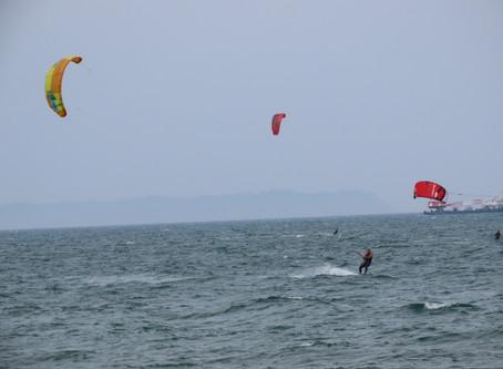6月9日の小松海岸カイトボード