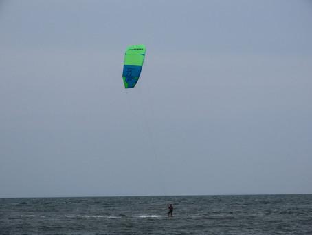 9月27日の小松海岸カイトボード