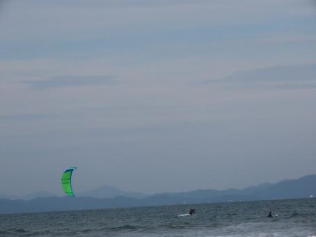 10月21日小松海岸カイトボード