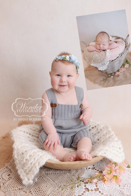 newborn fotoshoot babyfotoshoot sitter sessie dreumesfotoshoot 7 maanden