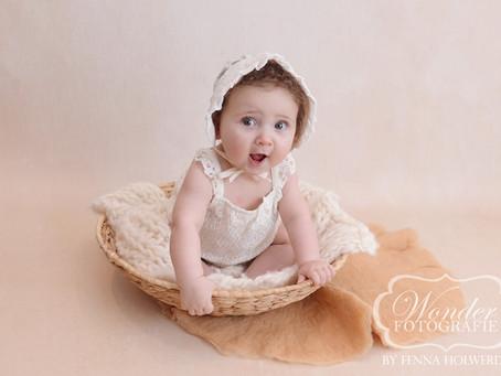 Sitter Sessie Baby Fotoshoot