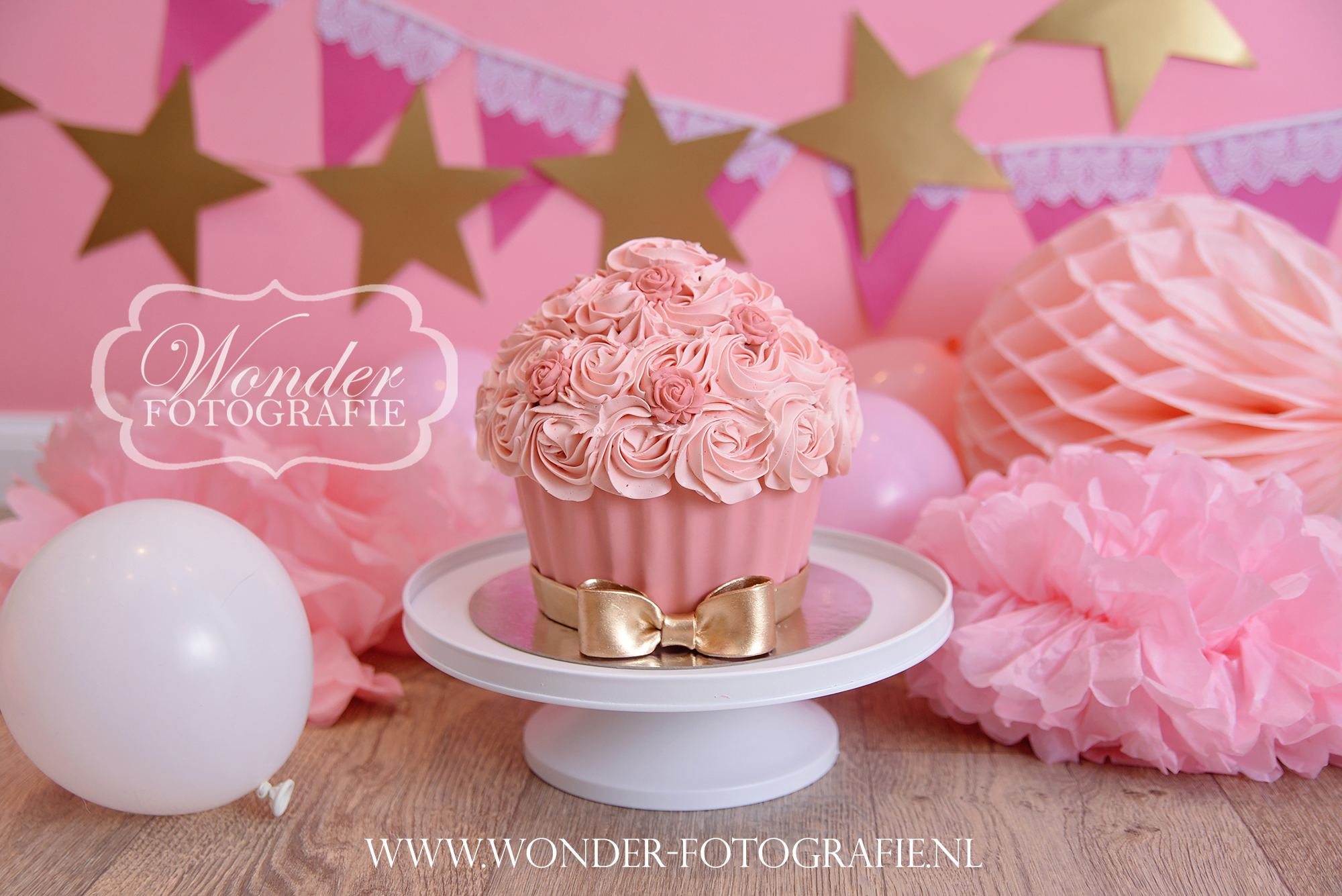 Cake Smash taart roze goud