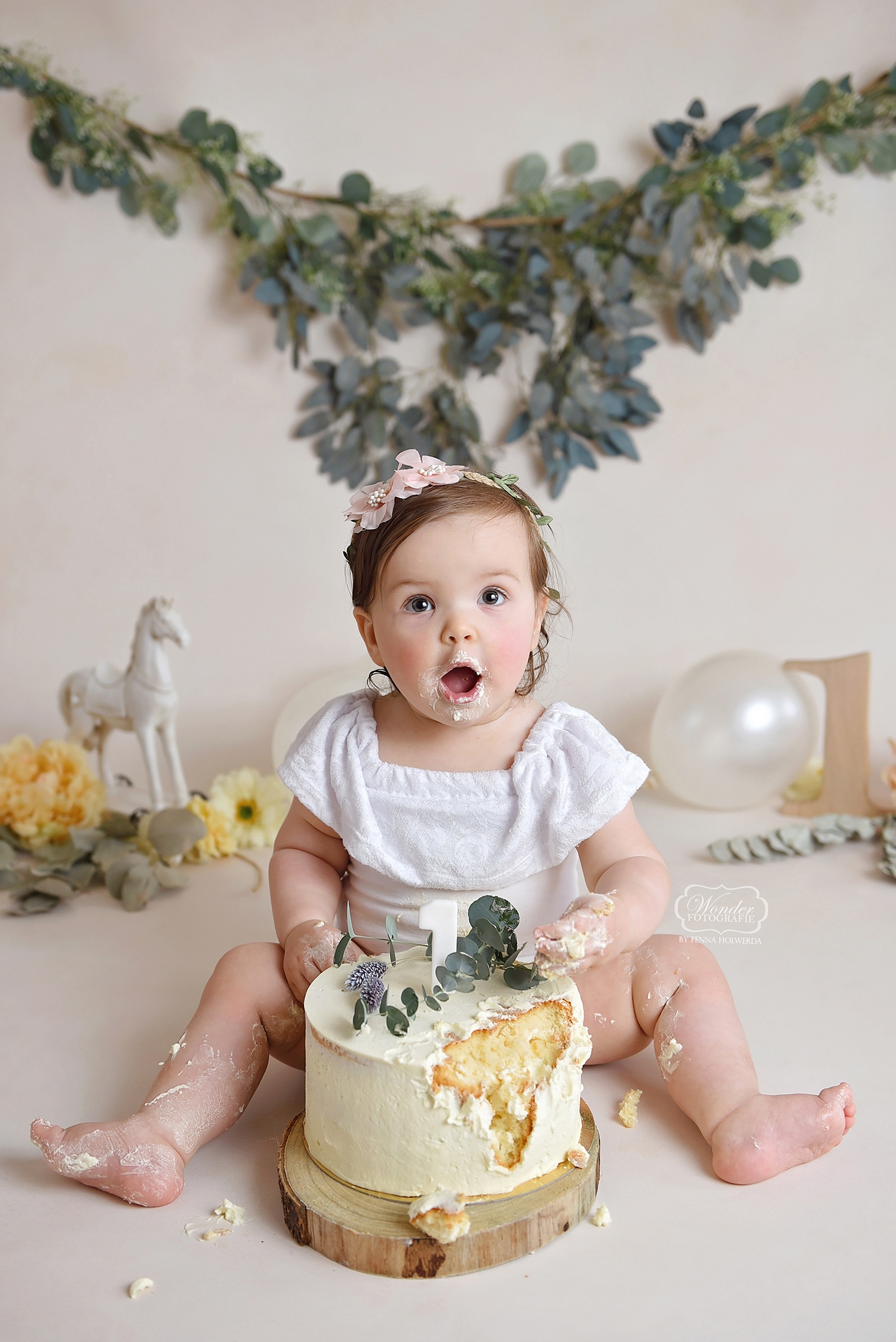 cake smash fotoshoot shoot nederland naturel boho
